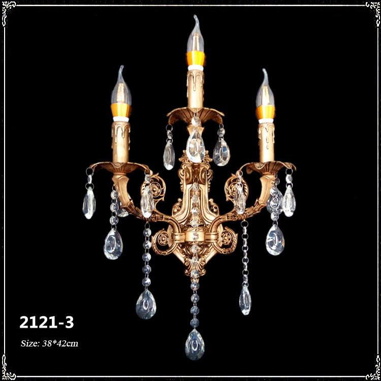 Đèn ốp tường pha lê phong cách Châu Âu sang trọng đầy ấn tượng 2121-3