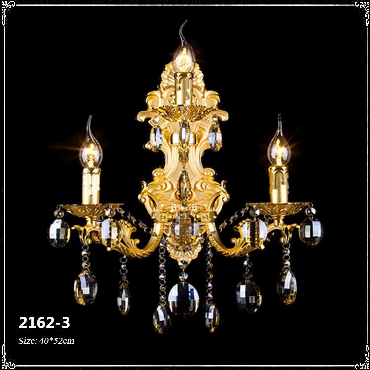 Đèn ốp tường pha lê phong cách Châu Âu sang trọng đầy ấn tượng 2162-3