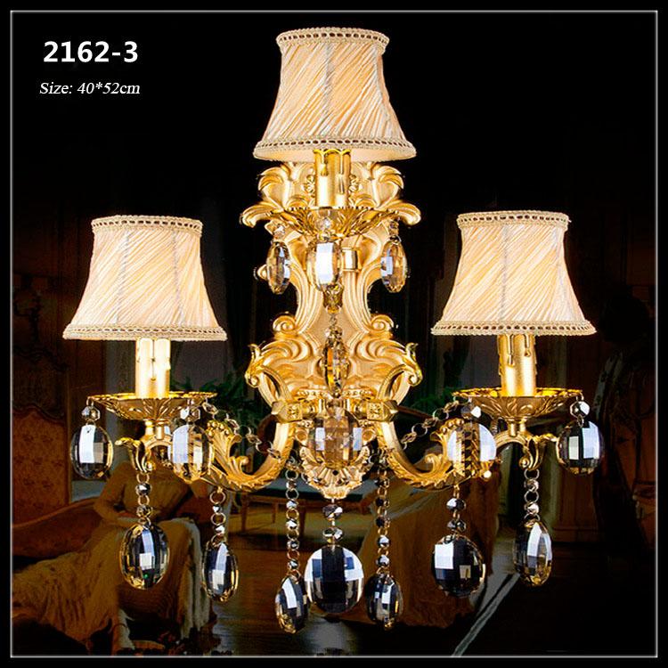 Đèn ốp tường pha lê phong cách Châu Âu sang trọng đầy ấn tượng 2162-3A