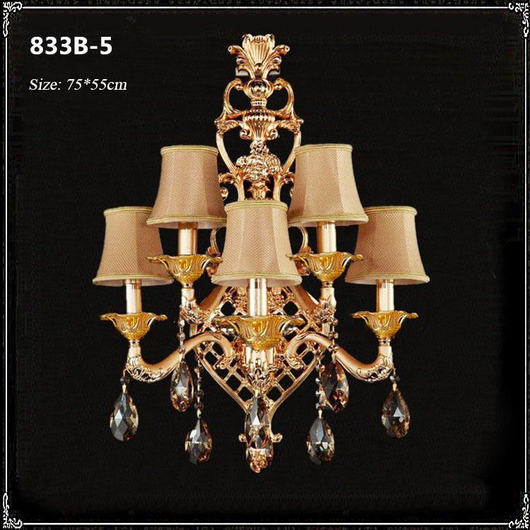 Đèn ốp tường pha lê phong cách Châu Âu sang trọng đầy ấn tượng 833B-5