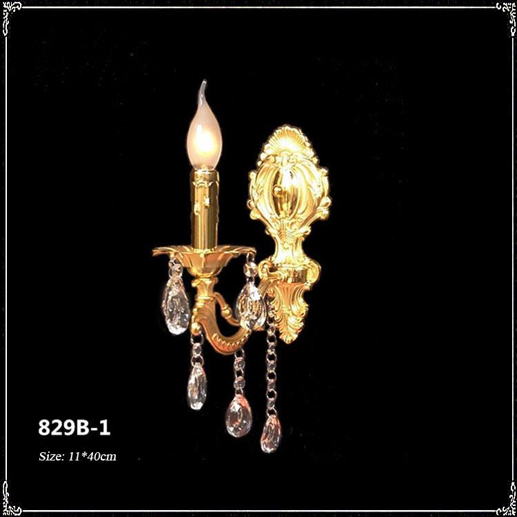 Đèn ốp tường pha lê phong cách Châu Âu sang trọng đầy ấn tượng 829B-1
