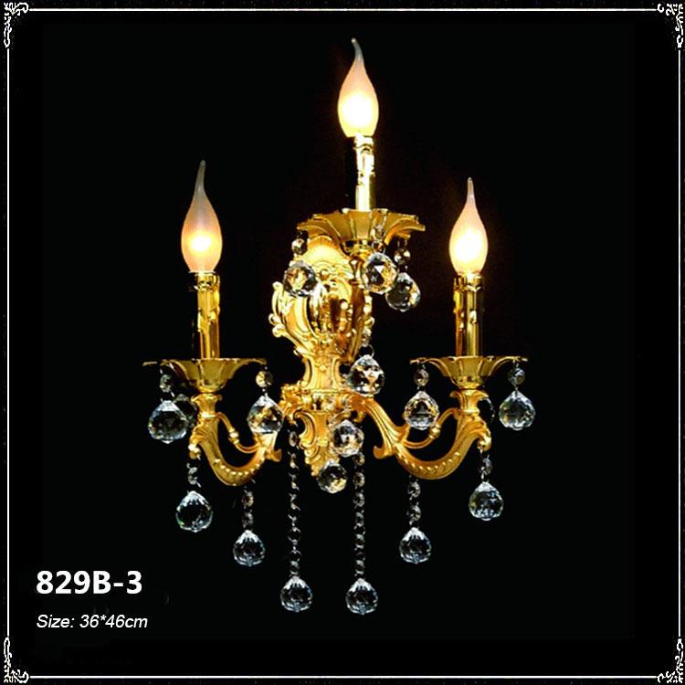 Đèn ốp tường pha lê phong cách Châu Âu sang trọng đầy ấn tượng 829B-3