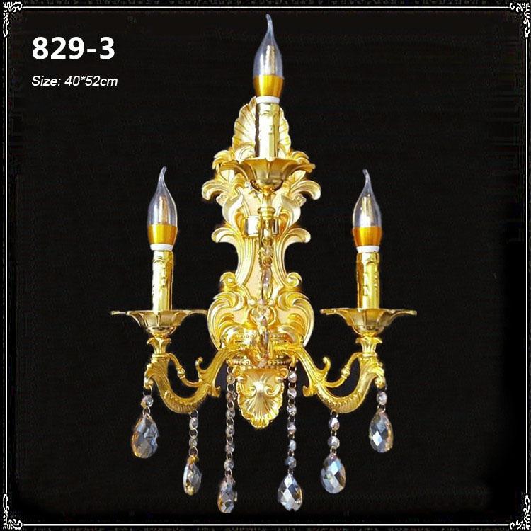Đèn ốp tường pha lê phong cách Châu Âu sang trọng đầy ấn tượng 829-3