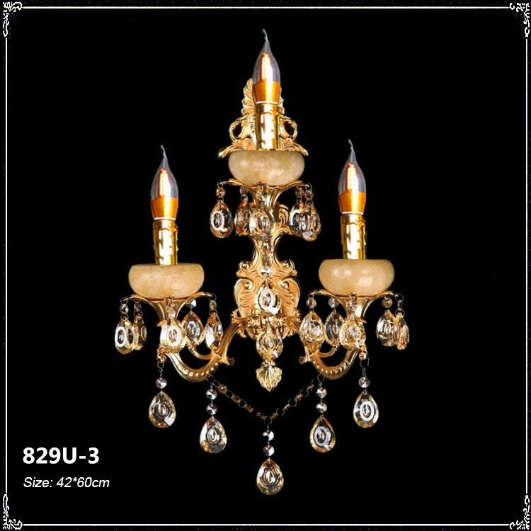 Đèn ốp tường pha lê phong cách Châu Âu sang trọng đầy ấn tượng 829U-3