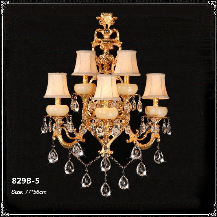 Đèn ốp tường pha lê phong cách Châu Âu sang trọng đầy ấn tượng 829B-5