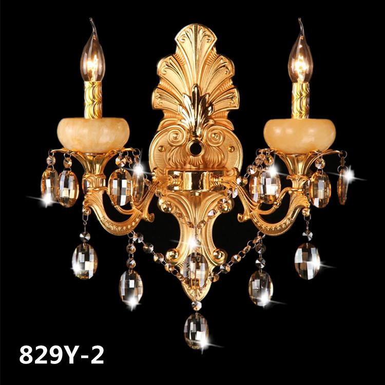 Đèn ốp tường pha lê phong cách Châu Âu sang trọng đầy ấn tượng 829Y-2
