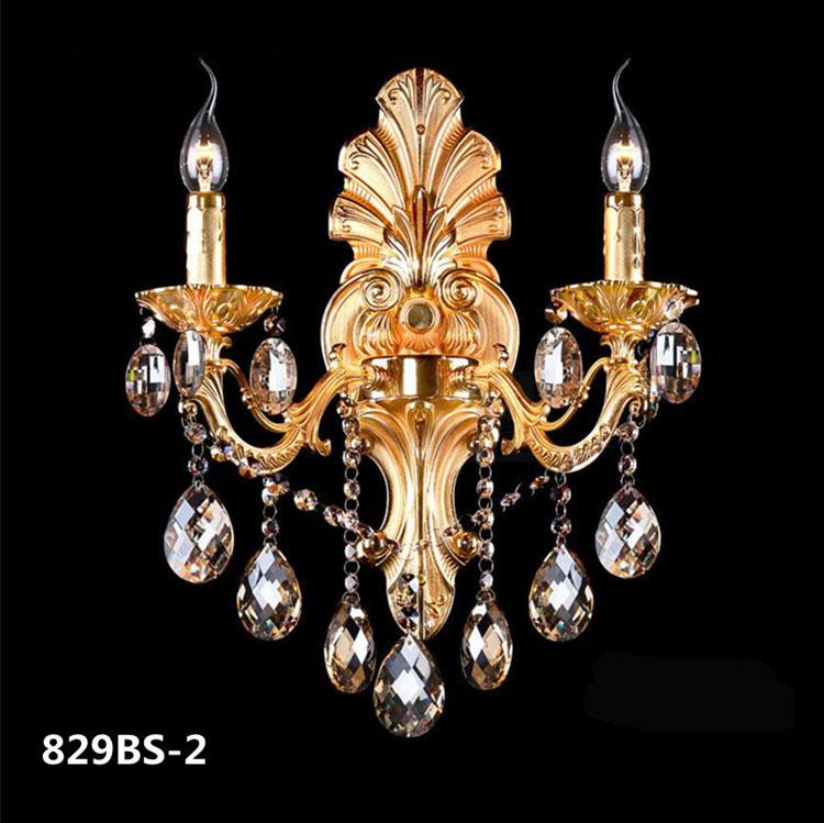 Đèn ốp tường pha lê phong cách Châu Âu sang trọng đầy ấn tượng 829BS-2