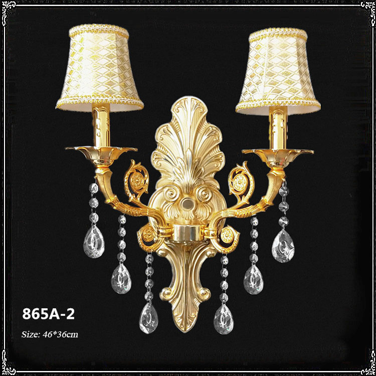 Đèn ốp tường pha lê phong cách Châu Âu sang trọng đầy ấn tượng 865A-2
