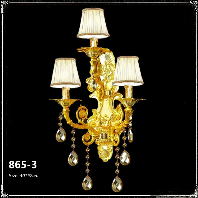 Đèn ốp tường pha lê phong cách Châu Âu sang trọng đầy ấn tượng 865-3A