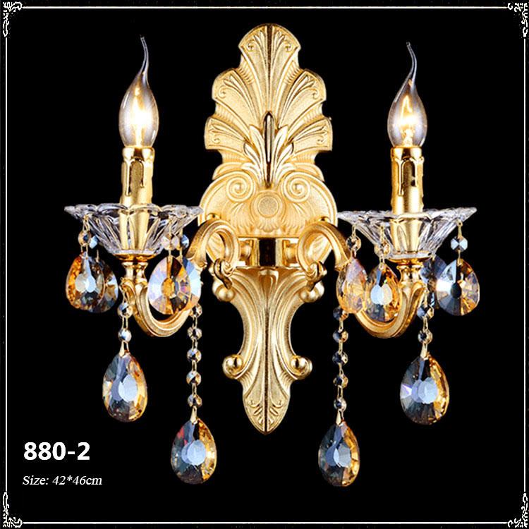 Đèn ốp tường pha lê phong cách Châu Âu sang trọng đầy ấn tượng 880-2