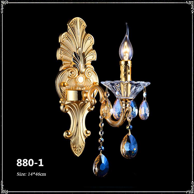 Đèn ốp tường pha lê phong cách Châu Âu sang trọng đầy ấn tượng 880-1