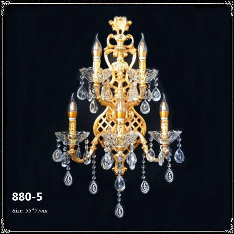 Đèn ốp tường pha lê phong cách Châu Âu sang trọng đầy ấn tượng 880-5