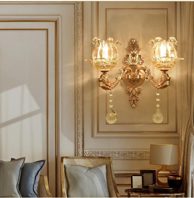 Đèn ốp tường tân cổ điển phong cách Châu Âu sang trọng đầy ấn tượng LA871-6-2DT
