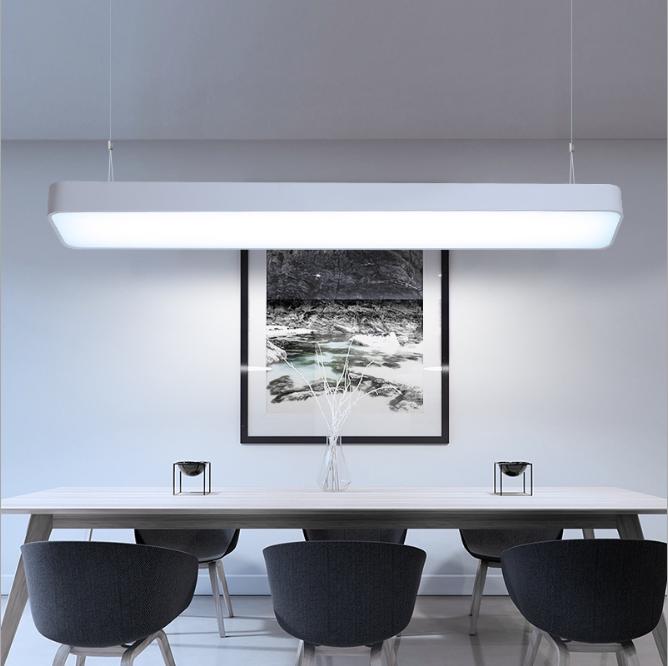 Đèn thả hình hộp chữ nhật dạng thả tạo nên phong cách sang trọng và đầy ấn tượng