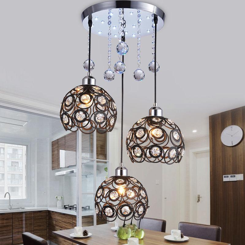 Đèn thả trần pha lê kiểu dáng sang trọng hiện đại đầy ấn tượng LA8215 loại 3 đèn