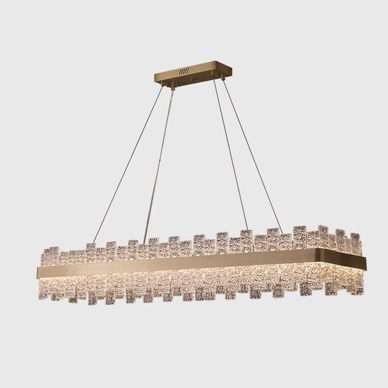 Đèn thả trần pha lê thiết kế sang trọng cho không gian hiện đại ấn tượng MD6822 hình chữ nhật size 800mm