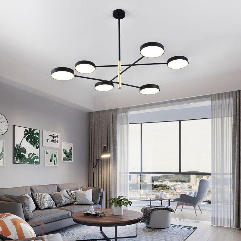 Đèn thả trần phòng khách phong cách Bắc Âu ấn tượng QDH-9110 màu đen