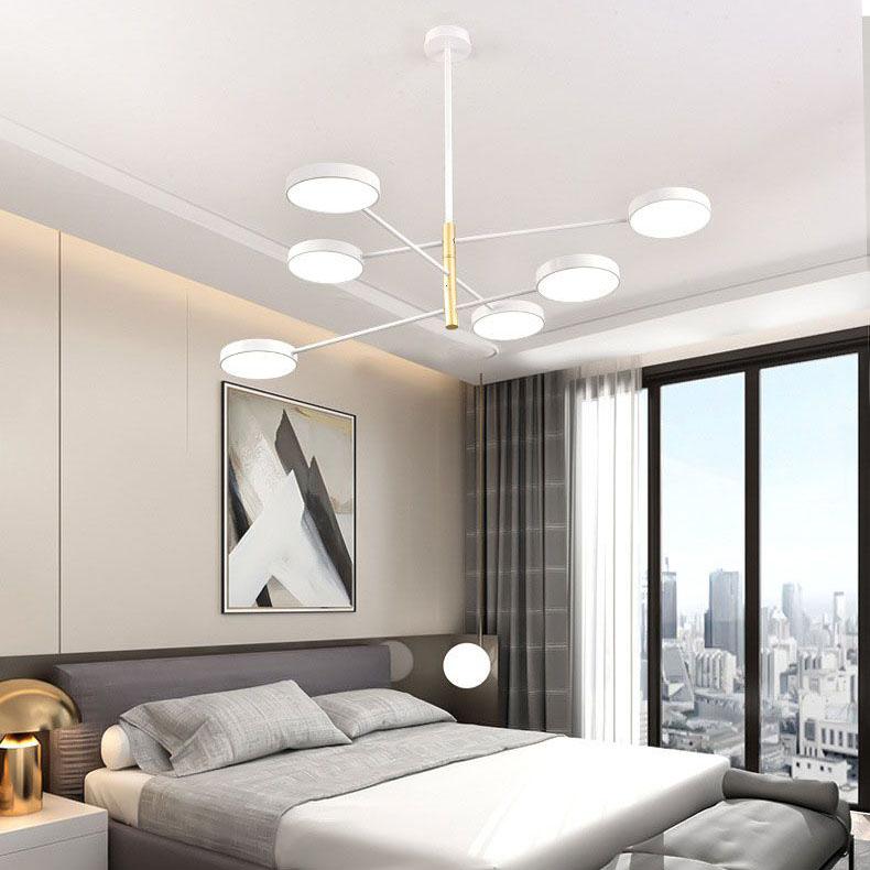 Đèn thả trần phòng khách phong cách Bắc Âu ấn tượng QDH-9110 màu trắng