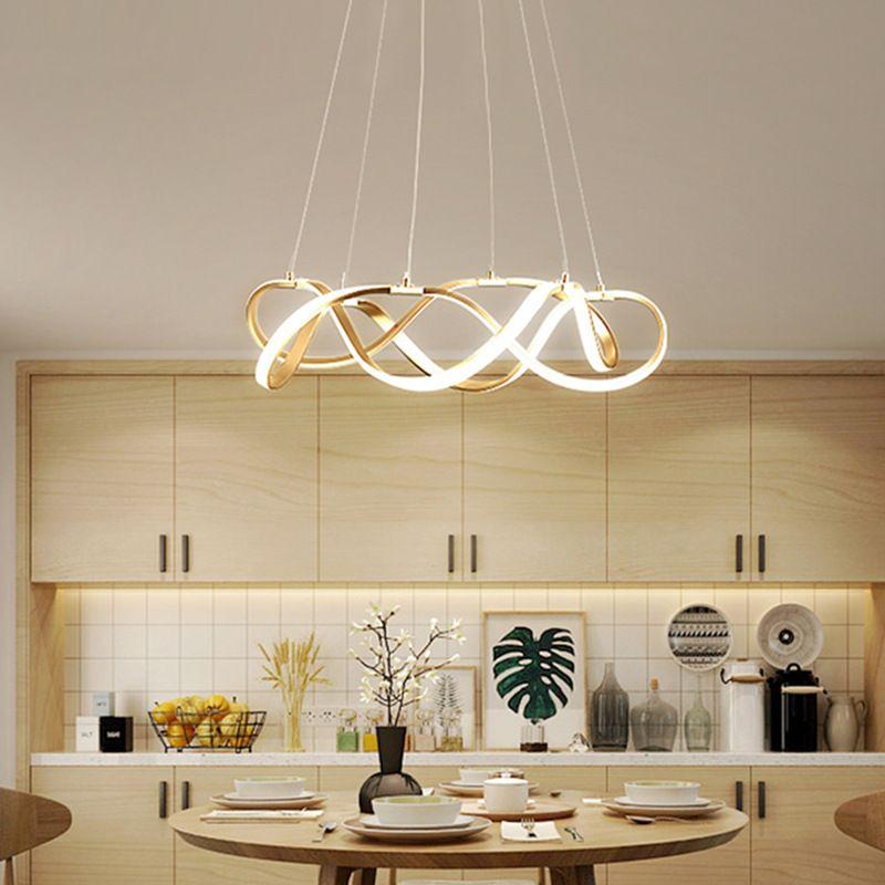 Đèn thả trần phòng khách phong cách sang trọng đầy ấn tượng chức năng làm mờ vô hạn + điều khiển từ xaA835 size 55cm