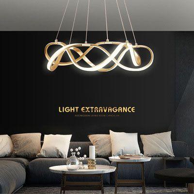 Đèn thả trần phòng khách phong cách sang trọng đầy ấn tượng chức năng làm mờ vô hạn + điều khiển từ xa A835 size 100cm