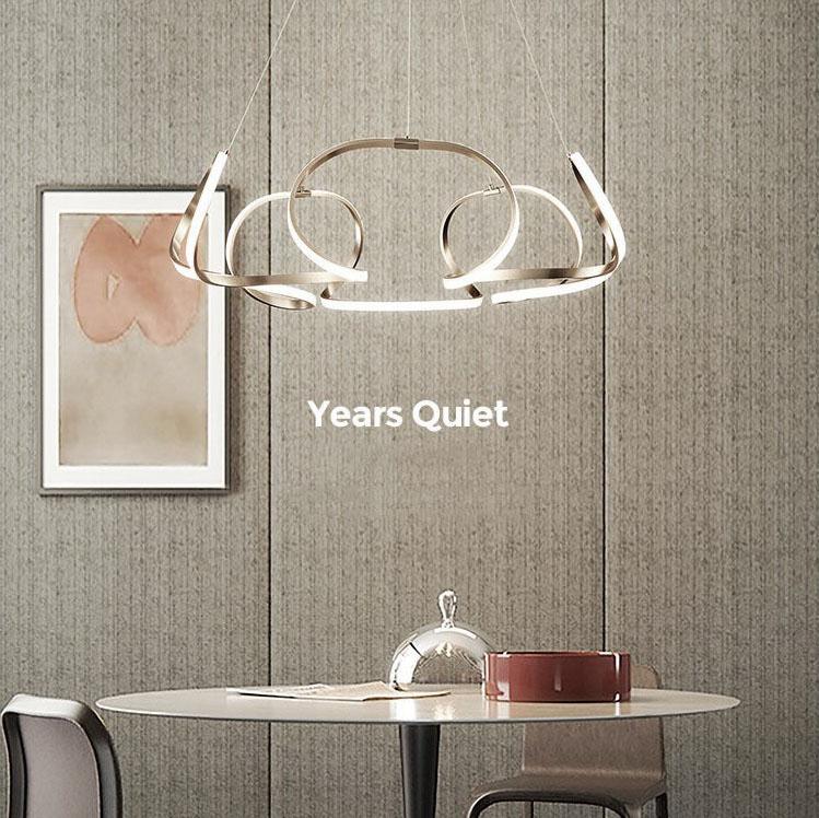 Đèn thả trần phòng khách phong cách sang trọng đầy ấn tượng làm mờ ánh sáng + điều khiển từ xa 2225 size 80cm màu trắng