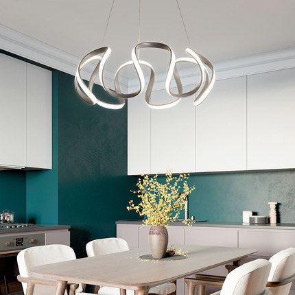Đèn thả trần phòng khách phong cách sang trọng đầy ấn tượng làm mờ ánh sáng + điều khiển từ xa 2225 size 60cm màu trắng