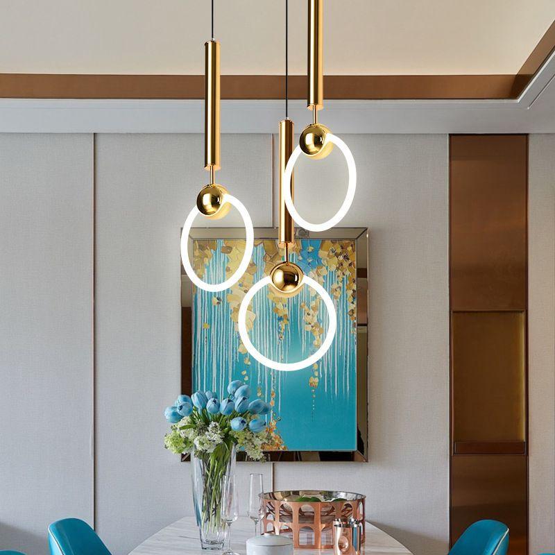 Đèn thả trần sáng tạo đầy nghệ thuật dễ dàng kết hợp màu sắc theo ý muốn size 26cm