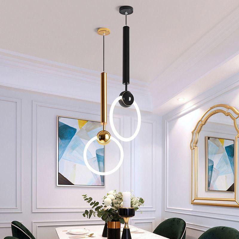 Đèn thả trần sáng tạo đầy nghệ thuật dễ dàng kết hợp màu sắc theo ý muốn size 19cm