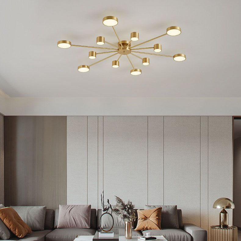 Đèn trần phòng khách phong cách Bắc Âu ấn tượng L149 12 bóng