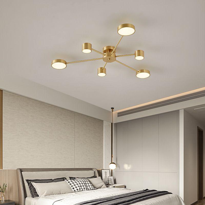 Đèn trần phòng khách phong cách Bắc Âu ấn tượng L149 6 bóng