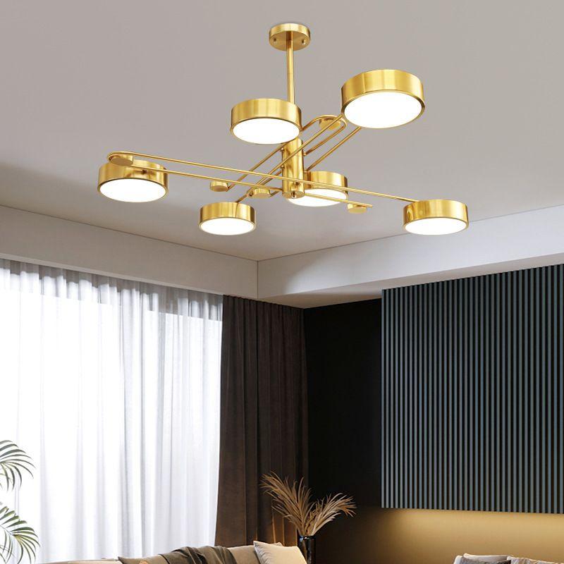 Đèn trần phòng khách phong cách Bắc Âu ấn tượng XH-BT8815 loại 6 đầu