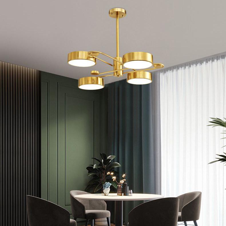 Đèn trần phòng khách phong cách Bắc Âu ấn tượng XH-BT8815 loại 4 đầu