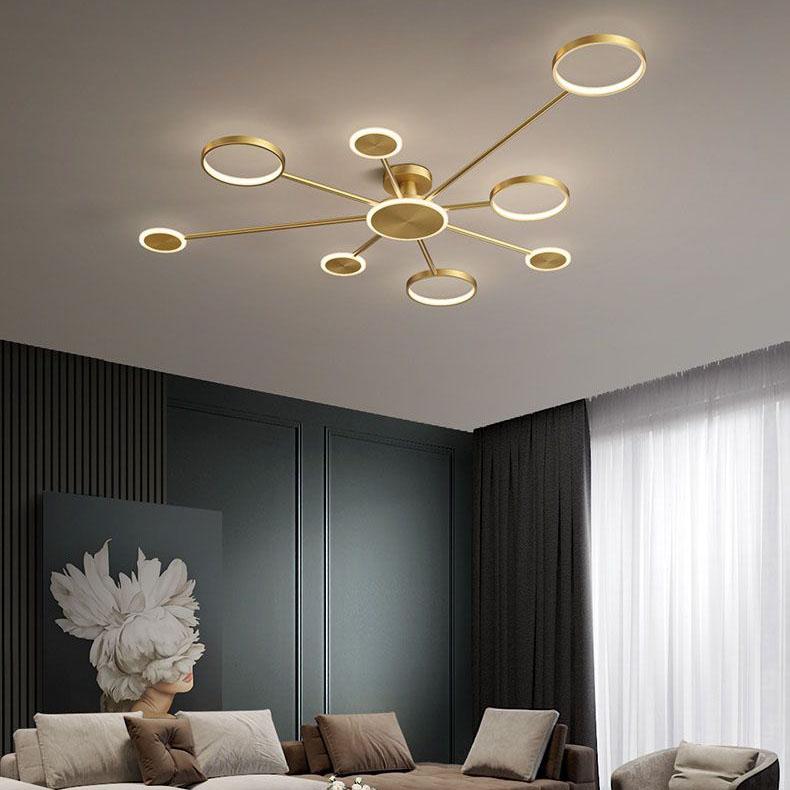 Đèn trần phòng khách phong cách sang trọng đầy ấn tượng 8345 size 168cm