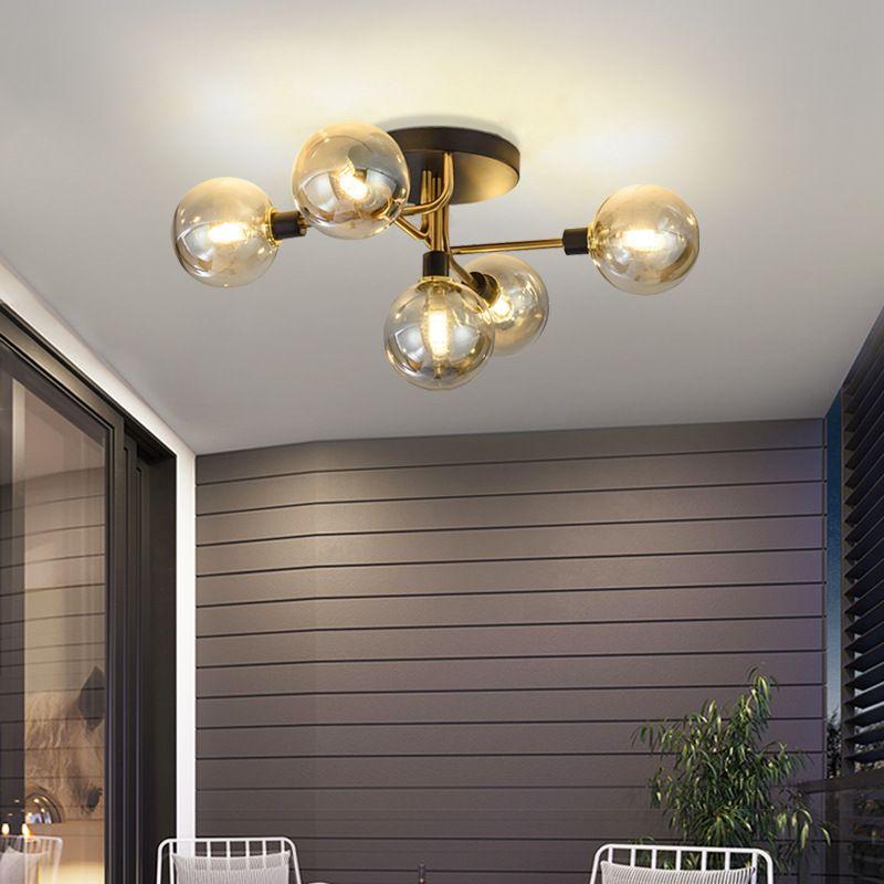 Đèn trần phòng khách phong cách sang trọng đầy ấn tượng MX471 loại 5 bóng