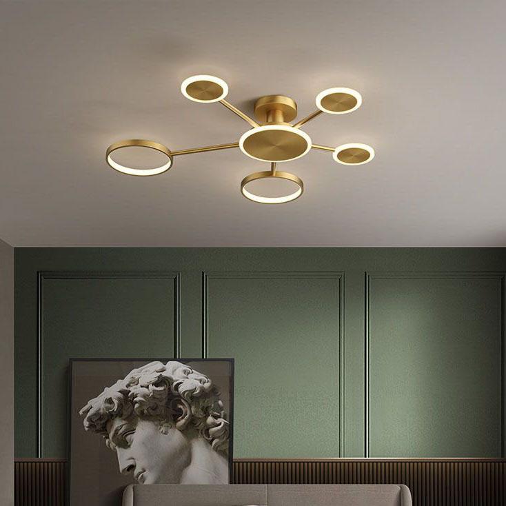 Đèn trần phòng khách phong cách sang trọng đầy ấn tượng 8345 size 100cm