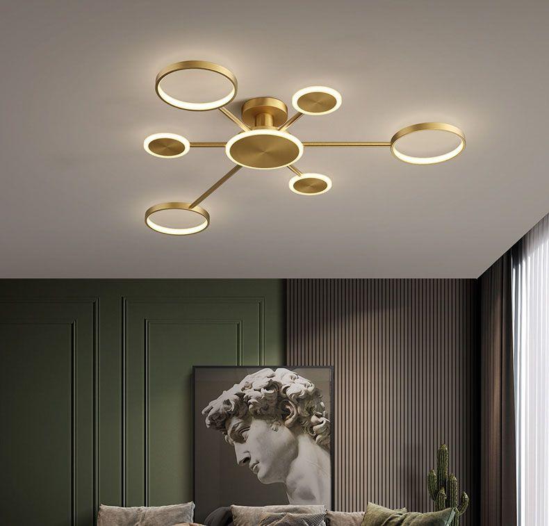 Đèn trần phòng khách phong cách sang trọng đầy ấn tượng 8345 size 122cm