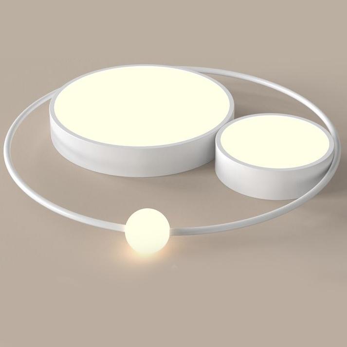 Đèn trần thiết kế độc đáo lạ mắt cho không gian thêm ấn tượng XH-H6837 màu trắng size 45cm