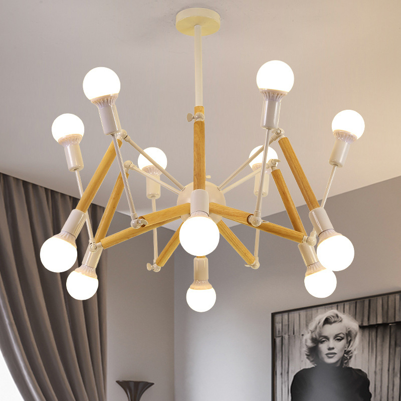 Đèn trang trí phong cách Bắc Âu sáng tạo đầy cá tính cho không gian nhà hiện đại 2242-12 màu trắng