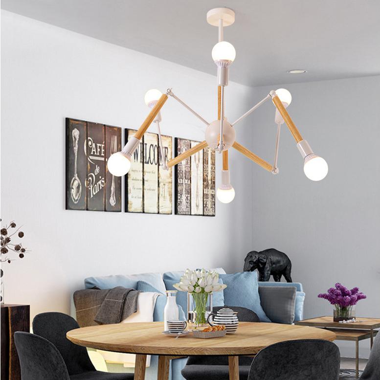Đèn trang trí phong cách Bắc Âu sáng tạo đầy cá tính cho không gian nhà hiện đại 2242-6 màu trắng