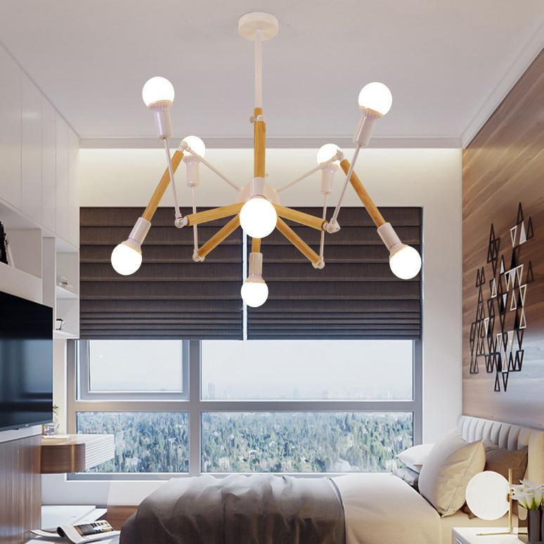 Đèn trang trí phong cách Bắc Âu sáng tạo đầy cá tính cho không gian nhà hiện đại 2242-8 màu trắng