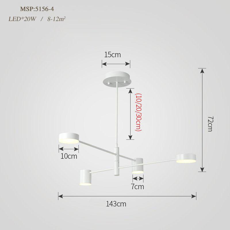 Đèn trang trí phong cách Bắc Âu sáng tạo đầy cá tính cho không gian nhà hiện đại 5156-4 màu trắng