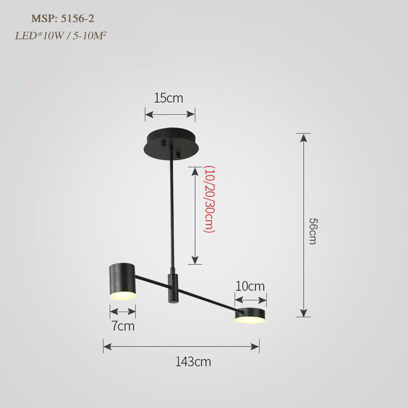 Đèn trang trí phong cách Bắc Âu sáng tạo đầy cá tính cho không gian nhà hiện đại 5156-2 màu đen