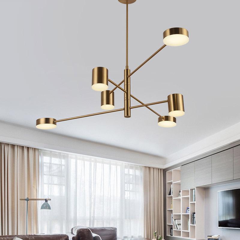 Đèn trang trí phong cách Bắc Âu sáng tạo đầy cá tính cho không gian nhà hiện đại 5156-6A màu vàng