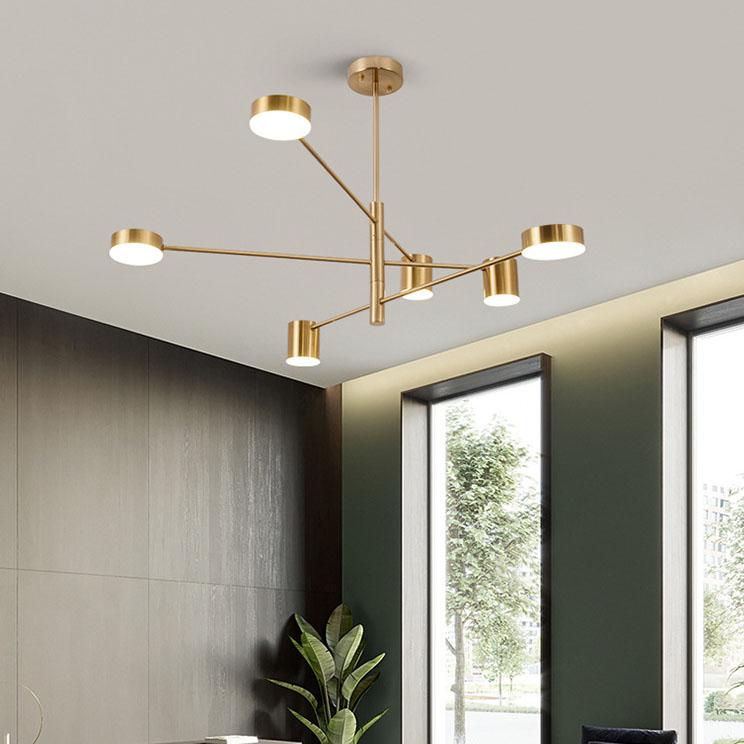 Đèn trang trí phong cách Bắc Âu sáng tạo đầy cá tính cho không gian nhà hiện đại 5156-6B màu vàng