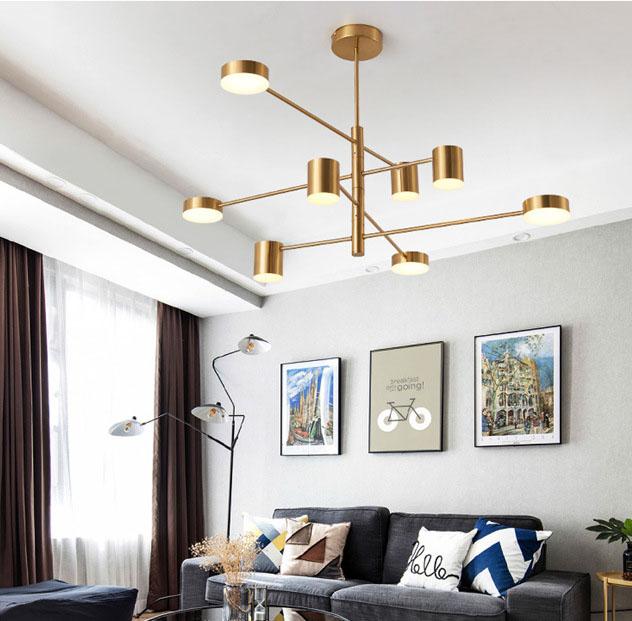Đèn trang trí phong cách Bắc Âu sáng tạo đầy cá tính cho không gian nhà hiện đại 5156-8A màu vàng