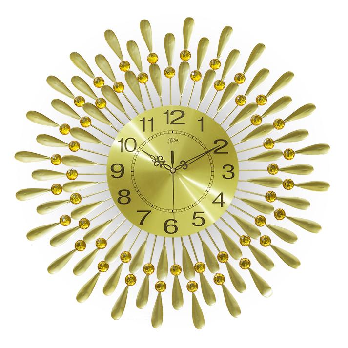 Đồng hồ treo tường hình chiếc lá và giọt sương và giọt sương kích thước 60 cm