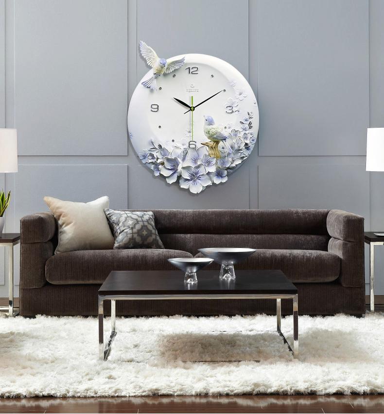 Đồng hồ thiết kế hình hoa nghệ thuật cho không gian thêm ấn tượng ZB0006A