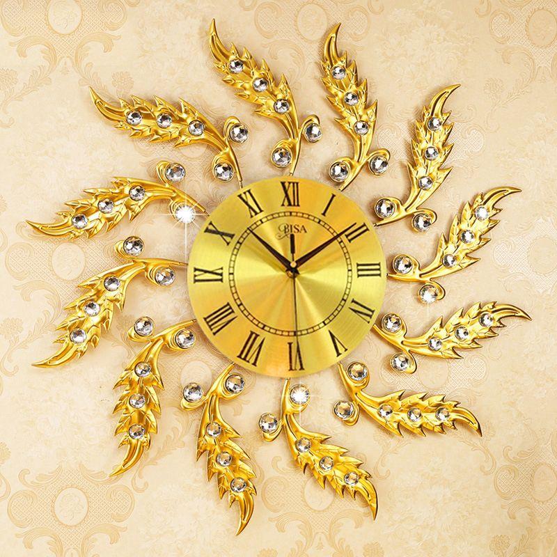 Đồng hồ treo tường thiết kế sang trọng hiện đại cho không gian thêm ấn tượng LA6692-70YL