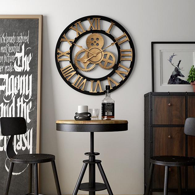 Đồng hồ treo tường hiện đại thiết kế độc đáo đầy ấn tượng BS5868A-60YL