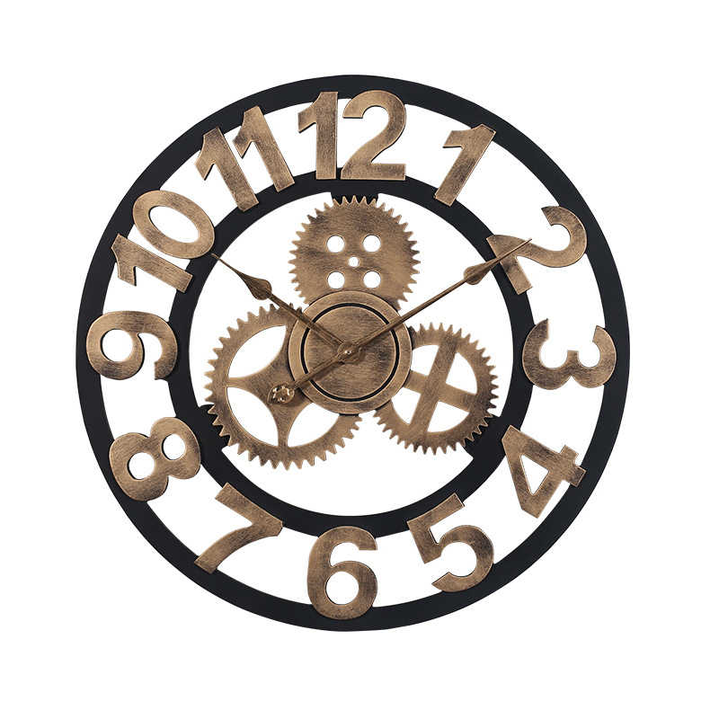 Đồng hồ treo tường hiện đại thiết kế độc đáo đầy ấn tượng BS5868-80YL